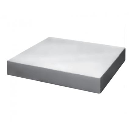 Bloc de découpe en polyéthylène blanc