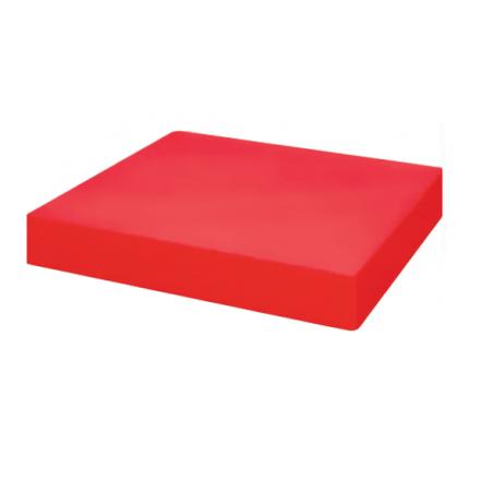 Bloc de découpe en polyéthylène rouge