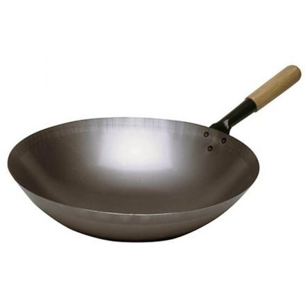 Sauteuse wok acier 360mm