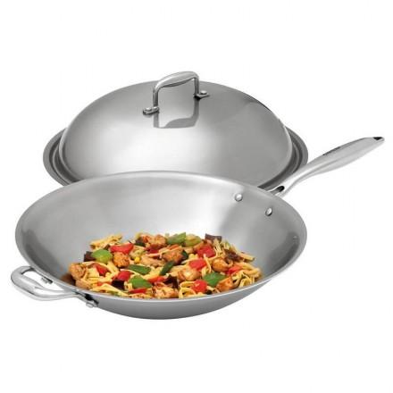 Sauteuse wok inox W380R 380mm