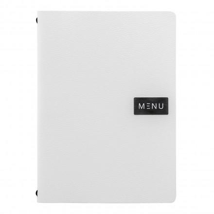 Protège-menu A4 100% cuir écologique WHITE RAW