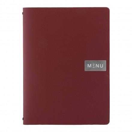 Protège-menu A4 100% cuir écologique RED ROYAL
