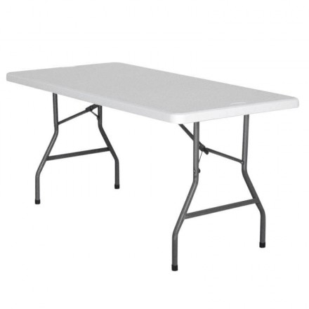 Table rectangulaire pliante 6-8 personnes