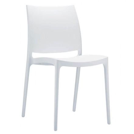 Chaise de réception blanche INCA