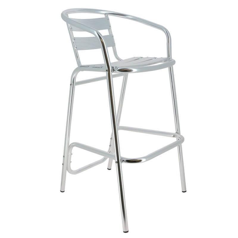 chaise haute de bar aluminium