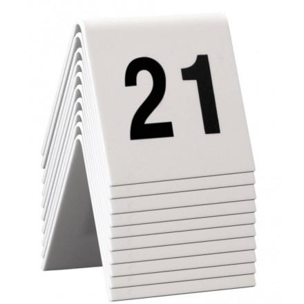 Numéros de table 21 à 30