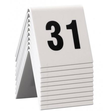 Numéros de table 31 à 40