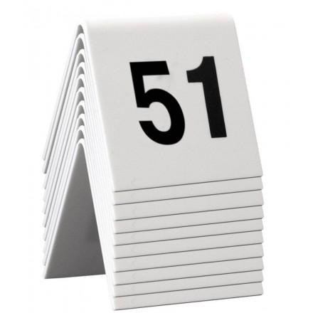 Numéros de table 51 à 60