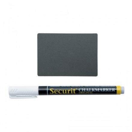 Étiquettes noires A8 x20