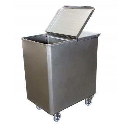 Bac à sel/farine 130L inox L2G Cuves inox/bacs à glace