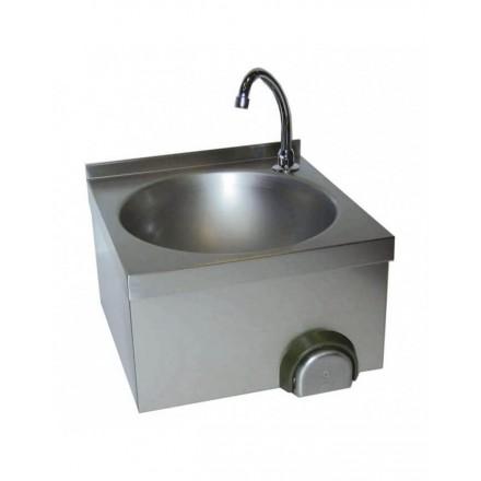 Lave main inox à commande fémorale cuve ronde