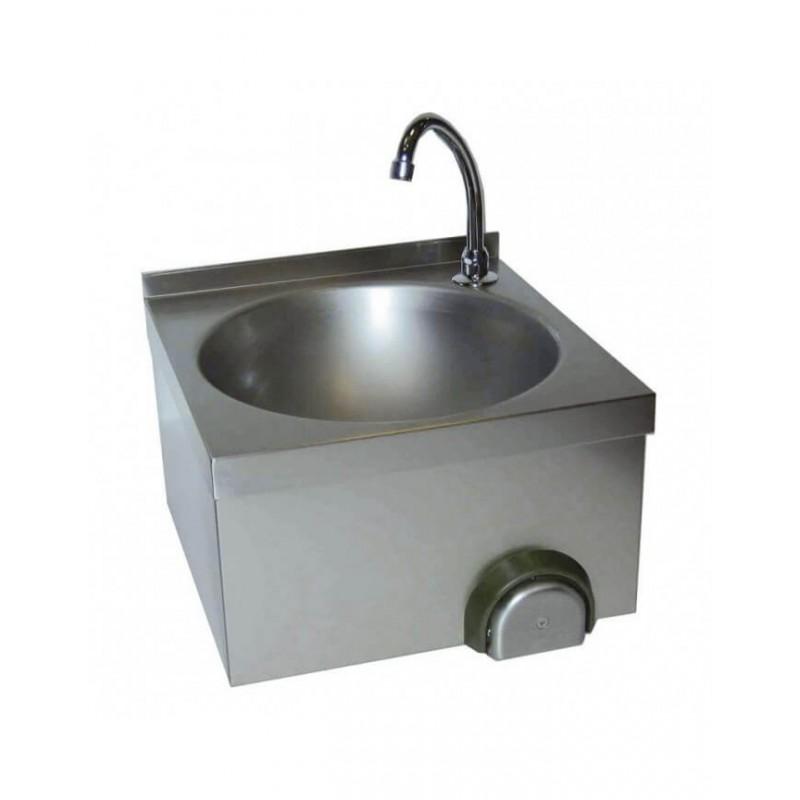 Lave-mains à commande fémorale cuve ronde ø340mm  Lave-mains inox