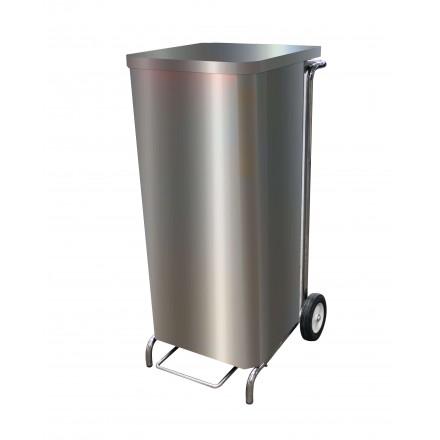 Support à sac poubelle caréné inox 100L