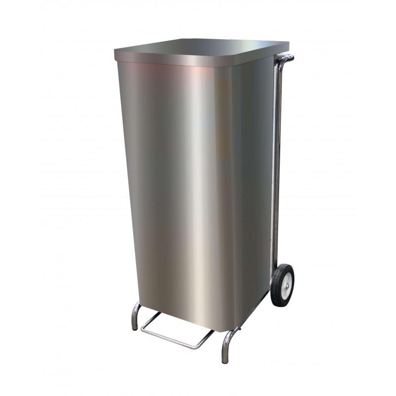 Support à sac poubelle caréné inox 100L L2G Poubelles inox