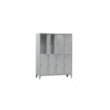 Vestiaire multicases (2 casiers par colonne)  Armoires vestiaires