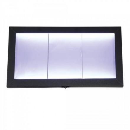 Porte-menu lumineux ACIER GALVA 3xA4