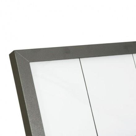 Porte-menu lumineux ACIER GALVA 6xA4 sur pied