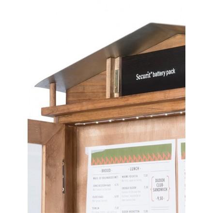 Porte-menu lumineux RUSTIC 4xA4 Securit