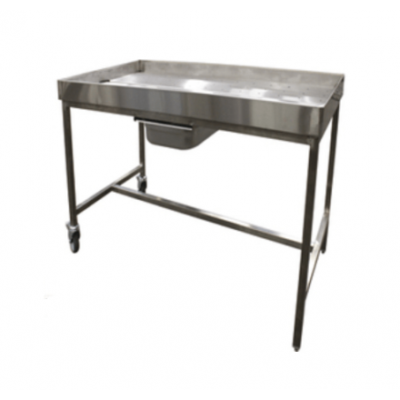 Table de poussage inox P700mm