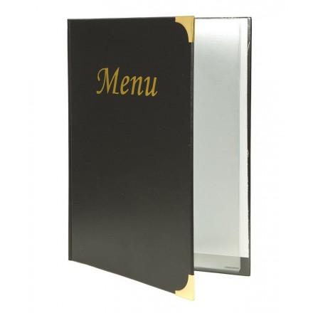 Protège-menu A4 Basic noir Securit