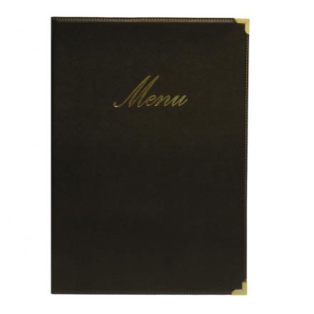 Protège-menu A4 Classic noir