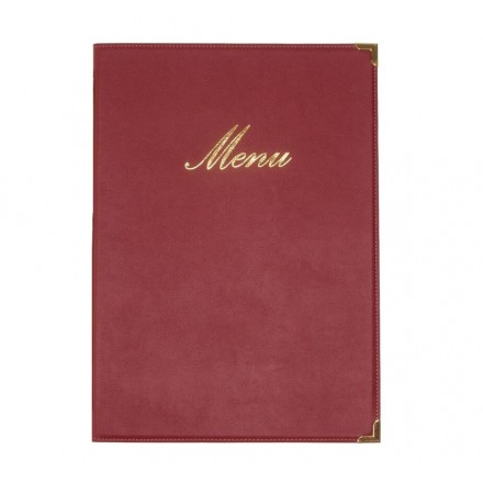Box de 20 protège-menus A4 Classic bordeaux
