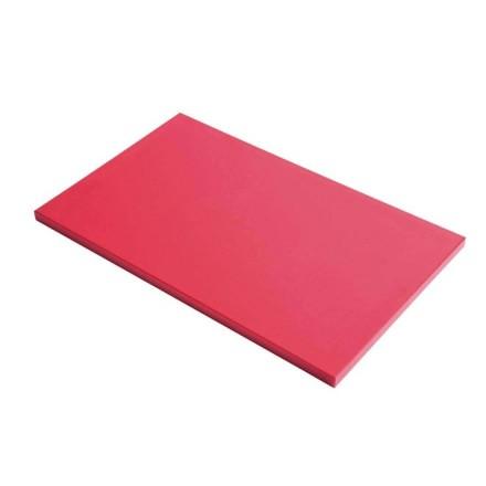 Plaque de découpe polyéthylène rouge HD500