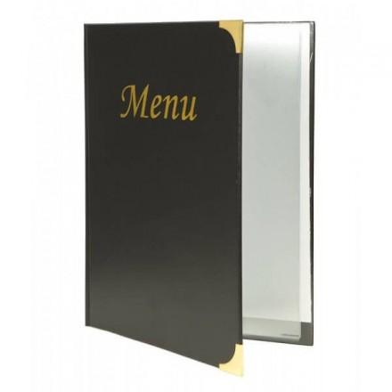 Protège-menu A5 Basic noir Securit