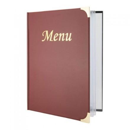Protège-menu A5 Basic bordeaux 1er prix SECURIT Protège-menus A5