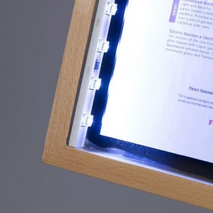 Porte-menu lumineux CLASSIC TECK 4xA4