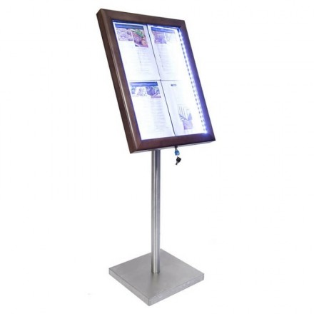 Porte-menu lumineux CLASSIC MARRON 4xA4