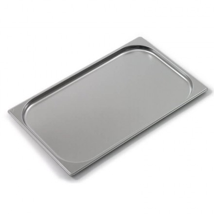 Plaque de four inox GN2/1 avec bords renforcés