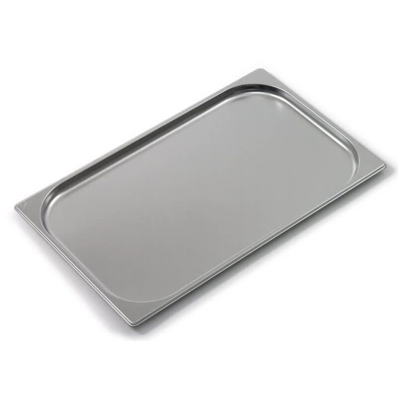 Plaque de four inox GN2/1 avec bords renforcés