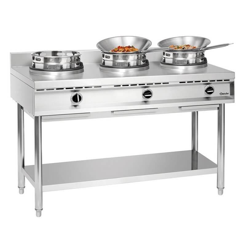 Cuisinière wok à gaz GWH3 Bartscher