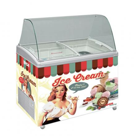 Vitrine à crèmes glacées vintage 170L Tensaï