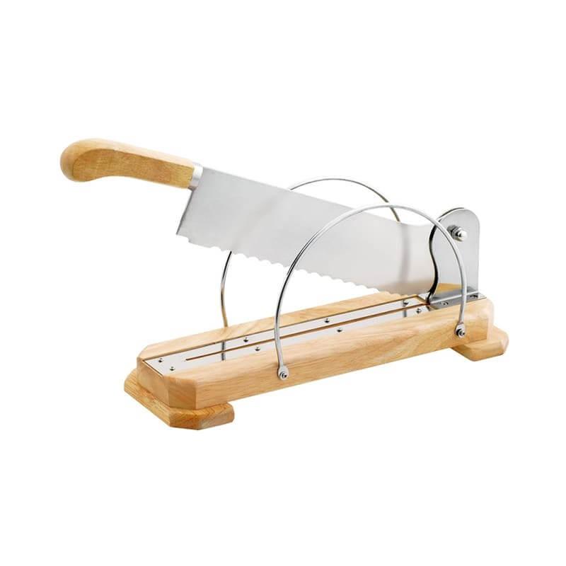 Couteau à pain sur socle en bois