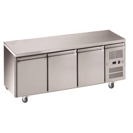 Table réfrigérée 3 portes sans dosseret GN3100TN