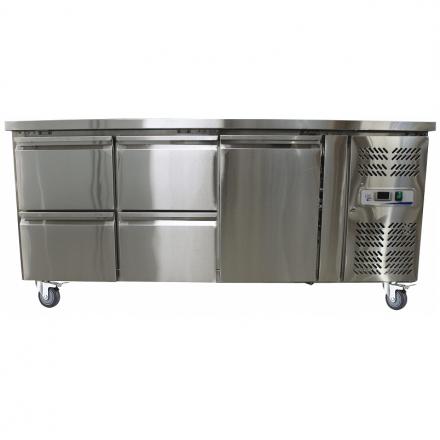 Table réfrigérée centrale 1 porte + 4 tiroirs GN3140TN