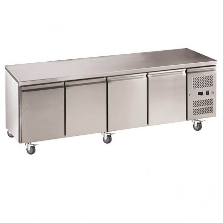 Table réfrigérée centrale 4 portes SNACK4100TN