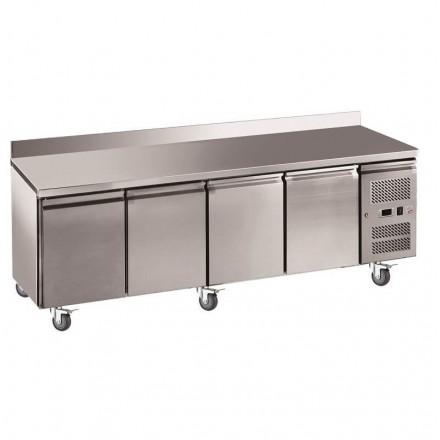 Table réfrigérée adossée 4 portes GN4200TN