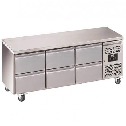 Table réfrigérée centrale 6 tiroirs GN3160TN