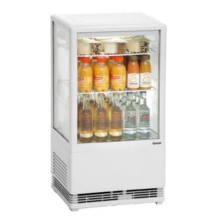 Mini vitrine réfrigérée blanche 58L