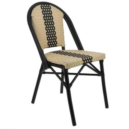 Chaise de restaurant PARIS bicolore