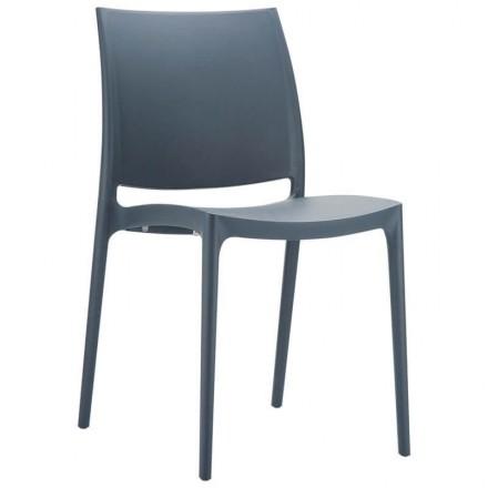 Chaise de jardin Toulon gris foncé
