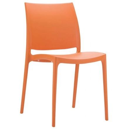Chaise de jardin Toulon orange
