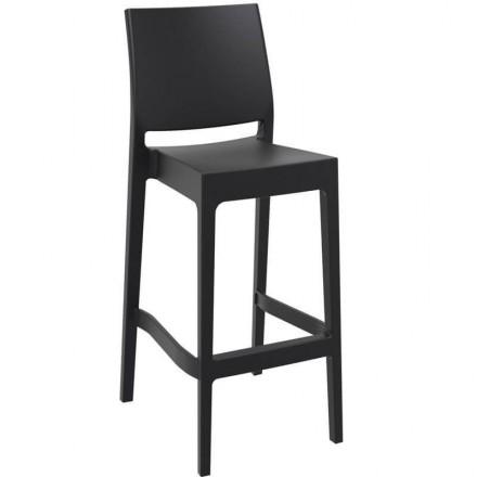 Chaise haute de jardin Toulon noir
