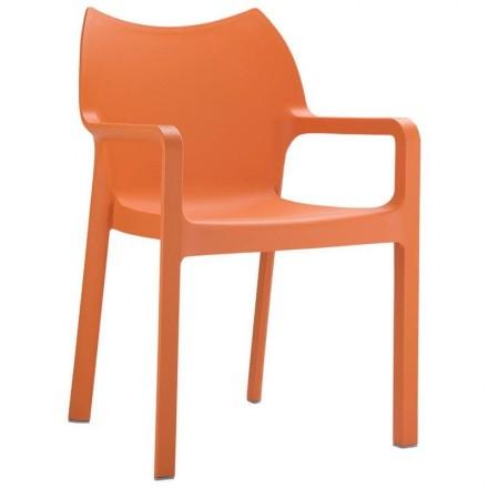 Fauteuil Toulon orange