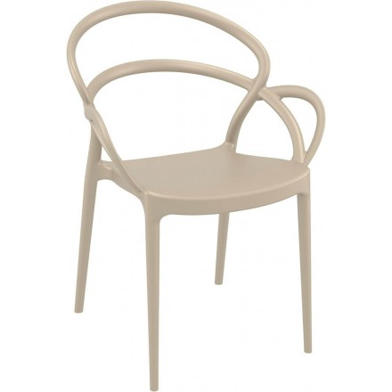Fauteuil SETE taupe