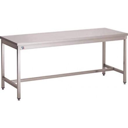 Table inox centrale soudée P600mm