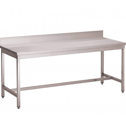 Table inox adossée soudée...